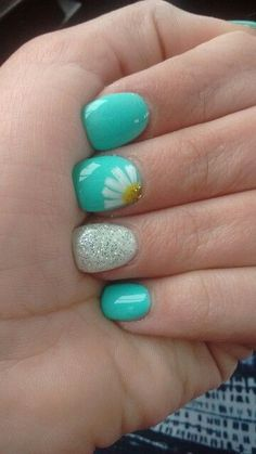 Blue | Awesome Spring Nails Design for Short Nails | Easy Summer Nail Art Ideas