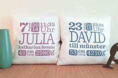 - Your personalized baby pillow Silhouette Portrait, Silhouette Cameo, Cricut Baby Shower, Craft Presents, Silhouette America, Baby Pillows, Baby Kind, Happy Quotes, Happiness Quotes