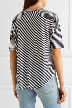 rag & bone - Valley Striped Linen And Modal-blend T-shirt - Navy -