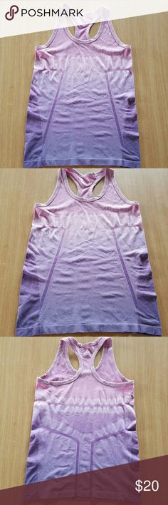 CLEARANCE BCG althletic top Ombre purple tank. Racer back. 52% Nylon 48% Spandex.  Excellent condition. BCG Tops Tank Tops