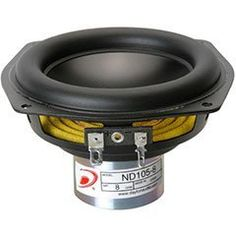 """Dayton Audio ND105-8 4"""" Aluminum Cone Midbass Driver 8 Ohm by Dayton. Save 23 Off!. $26.90. Dayton Audio's compact aluminum cone drivers demonstrate the latest advances in high-excursion design processes."""