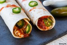 Slow Cooker Jalapeno Chicken Flautas SWANK NOTE:  Use only nonfat cream cheese and nonfat cheese.
