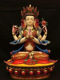 Kharchere Nepal Art, Tibet Art, Tibetan Buddhism, Buddhist Art, Golden Buddha, Krishna Statue, Japanese Warrior, Buddha Zen, Zen Meditation