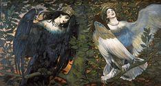 Виктор Васнецов «сирин и алконост» ヴィクトル・ヴァスネツォーフ『シリンとアルコノスト』(1896)