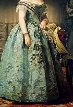 Retrato de Josefa Coello de Portugal de 1855 (detalhe) Via Pinterest - Visite 31.media.tumblr.com