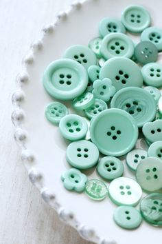 Color Verde Menta - Mint Green!!! Buttons