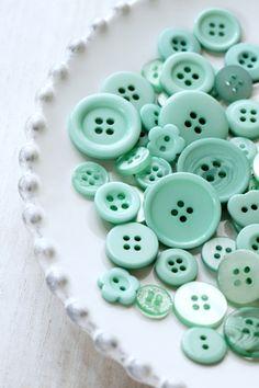 Color Verde Menta - Mint Green!!! Buttons