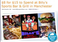 HOT!!! Billy's Sports Bar in ManchVegas: $8 for $15 of food and drink!!!  - http://extremecouponprofessors.net/2013/07/hot-billys-sports-bar-in-manchvegas-8-for-15-of-food-and-drink/