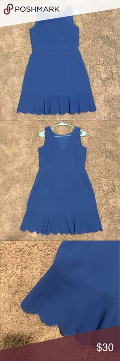 Royal Blue J. Crew Scallop Hem Dress Royal Blue J. Crew Dress. Fit and flare style with adorable scalloped Hem detail. Size 6. Excellent condition. J. Crew Dresses