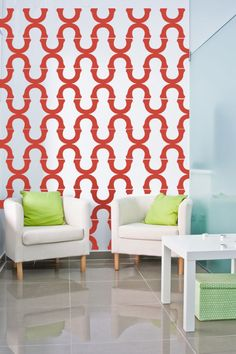 Wall Decal Geometric Mod Modern Retro Pattern by WallStarGraphics, $195.00