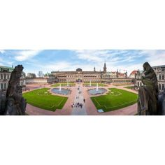 Zwinger Palace designed by Matthaus Daniel Poppelmann Dresden Saxony Germany Canvas Art - Panoramic Images (36 x 12)