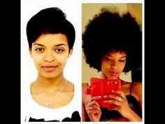 One Year Natural After Big Chop. Natural Hair Journey