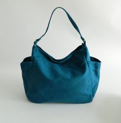 5th Anniversary 15% SALE - Renee in Teal // Tote / shoulder bag / Diaper bag / Handbag / Purse / Gift for her / women