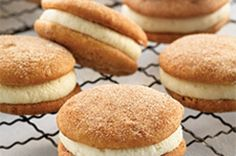 Mini Snickerdoodle Whoopie Pies   King Arthur Flour: A snack cake with true snickerdoodle flavor.
