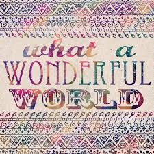 What a wonderful world.  In color.