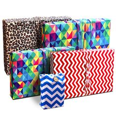 Wrapeez Fashionable. Stretchable. Reusable. Wrapeez is the modern solution to gift wrap.No Tape, No Scissors, No Mess! The Eco-friendly gift wrapstretches over different shapes and sizes.Fashionable patterns with a built-in bow effect creates The Best Dressed Gift every time!