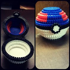 3D Great Ball - Pokemon perler beads by kittymccormick