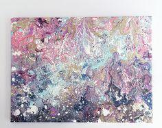 Original arte pintura abstracta arte moderno por ARTbyKirsten