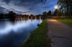 Evening bridge in Motala, Sweden