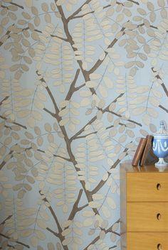 Jocelyn warner TreeTops Sky Blue wallpaper
