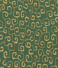 Robert Allen Myers Journey Billiard Green Fabric