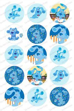 """Blue's Clues 1"""" bottle cap images"""