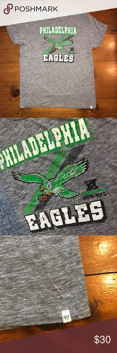 Vintage men's eagles t-shirt In great condition only worn & washed once ! Has the worn look to it and that's very visible in the pictures and once you have it in front of you and feel it. Super soft fabric ! Everything comes from a smoke and pet free home ! 47 brand Shirts Tees - Short Sleeve