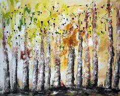 Fireflies  Acrylic on Gallery Wrapped Canvas. Dimensions: 2.8 x 3.3 ft