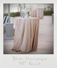 "72"", 90"", 120"" Champagne Blush and Chevron Round Tablecloths, Nude, Rose Gold Hues, 1 DAY SHIP. Gatsby glam wedding"