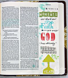Triple the Scraps: Journaling {Bible} My First Entry