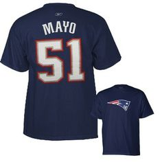 cac3eb64aa4bf Official New England Patriots ProShop - Jerod Mayo Name Number Tee Wes  Welker