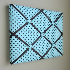11x14 Memory Board Bow Holder Ribbon Board Aqua by MemoriestoYou, $32.00