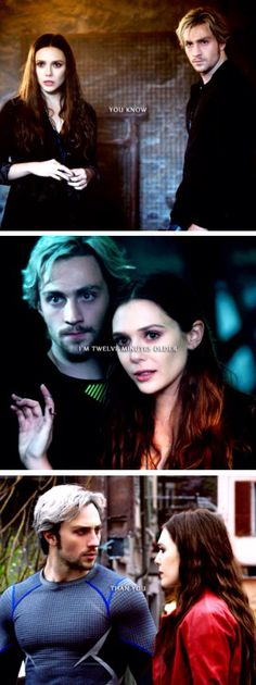 """""""You know, I'm twelve minutes older than you."""" //Pietro & Wanda Maximoff, The Twins, Quicksilver, Scarlet Witch"""