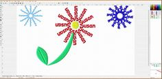 Watch: LEARN TO DIGITIZE WITH EMBIRD:  Snowflake name project