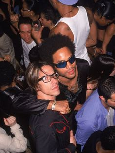 Anthony Kiedis and Lenny Kravitz.. A picture literally can't get better than this....