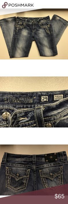 Miss Me Jeans: SIZE: 29 BOOT CUT/EASY BOOT Miss Me Jeans, SIZE 29. Boot Cut/EASY BOOT! Miss Me Jeans Boot Cut