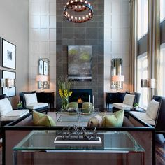 2 Story Fireplace Design Ideas, Pictures, Remodel, and Decor - page 10