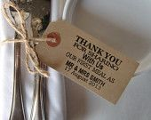 150 Wedding Napkin Holder-Rustic Wedding Table Decor-Vintage Style Luggage Tag-Thank You For Sharing-Various Sets-Wedding Favor
