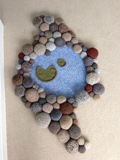 Crochet pebbles and pool ~ Freeform