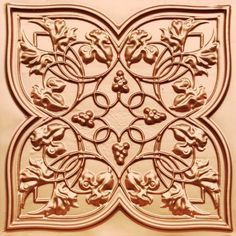 212 Faux Tin Ceiling Tiles have a lovely wine design to them. They have grapes and grap leaves pressed into them.