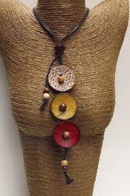 Resultado de imagen de button necklace