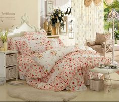 Aliexpress.com : Buy 100% Cotton Korean Country Style 4pcs bedding sets bedclothes bed linen nice design confortable  soft bring you warm all night from Reliable 4pcs bedding sets suppliers on Yous Co., Ltd. $90.00