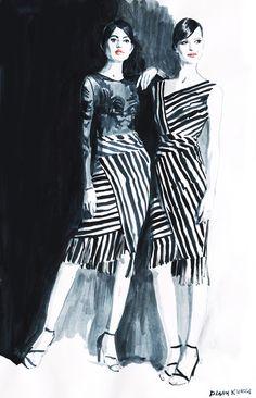Fashion illustration part 10. on Behance