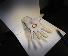 Trippy 3D Pencil Drawings - Alessandro Diddi Creates These 3D Drawings With Only His Pencil (GALLERY)