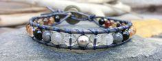 Falling Star Meteorite Gemstone Bracelet  by OffOnAWhimJewelry, $67.00