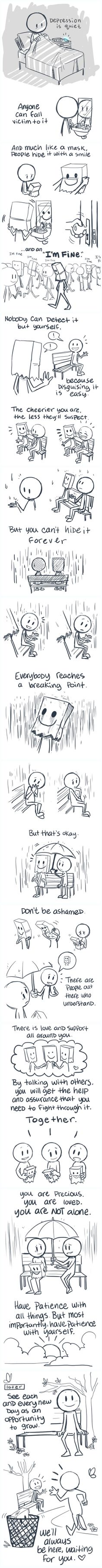These comics perfectly capture what dealing with depression is like (By Colleen: http://solar-citrus.tumblr.com/post/98583201090/you-would-be-surprised-with-how-many-people-in)