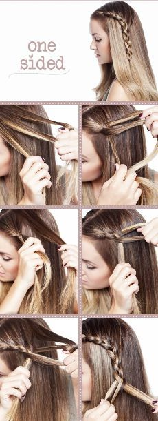 You can also one side braid it all the way down and that looks really cool too!