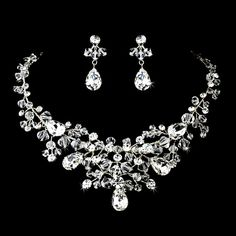 Bridal statement necklace SET Wedding jewelry by TheExquisiteBride, $98.00