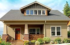 The best Craftsman house floor plans. Find 1 story Craftsman cottage style designs, modern Craftsman homes w/photos & more! Call for expert help. Bungalow House Plans, Craftsman Style House Plans, Cottage House Plans, Cottage Homes, Craftsman Homes, Craftsman Exterior, Bungalow Exterior, Cottage Ideas, Cozy Cottage