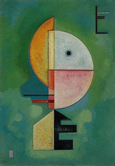 "Wassily Kandinsky, ""Upward"", 1929, Oil on cardboard"